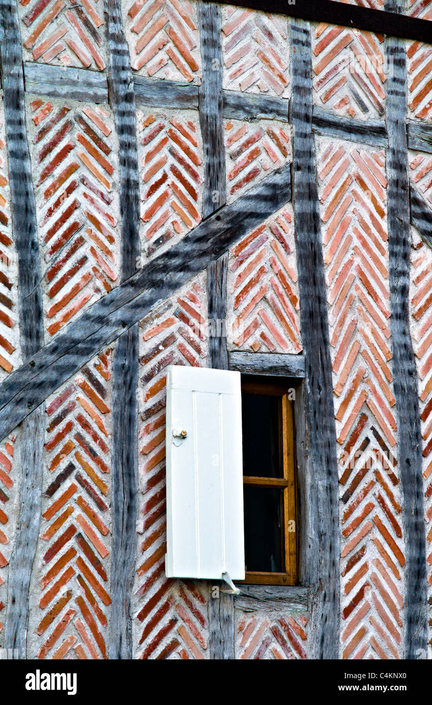Vecchio muro,Azay le Rideau,della Valle della Loira, Francia Immagini Stock