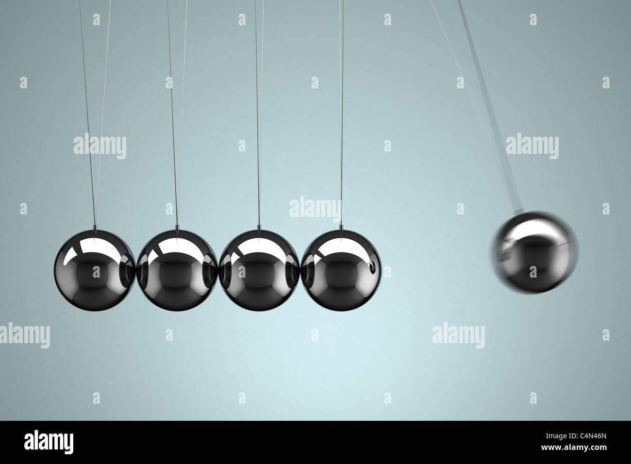 Di Newton culla con motion blur Immagini Stock