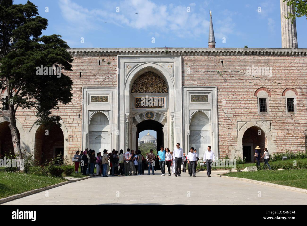 Cancello di ingresso al Palazzo del Topkapi ad Istanbul in Turchia. Foto scattata a 25 Mai 2011 Immagini Stock