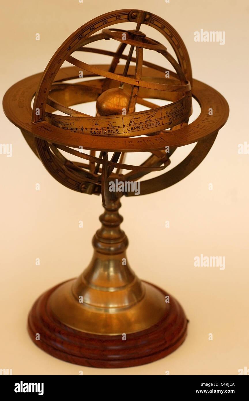 Orrery, astronomico e strumento astrologico Immagini Stock