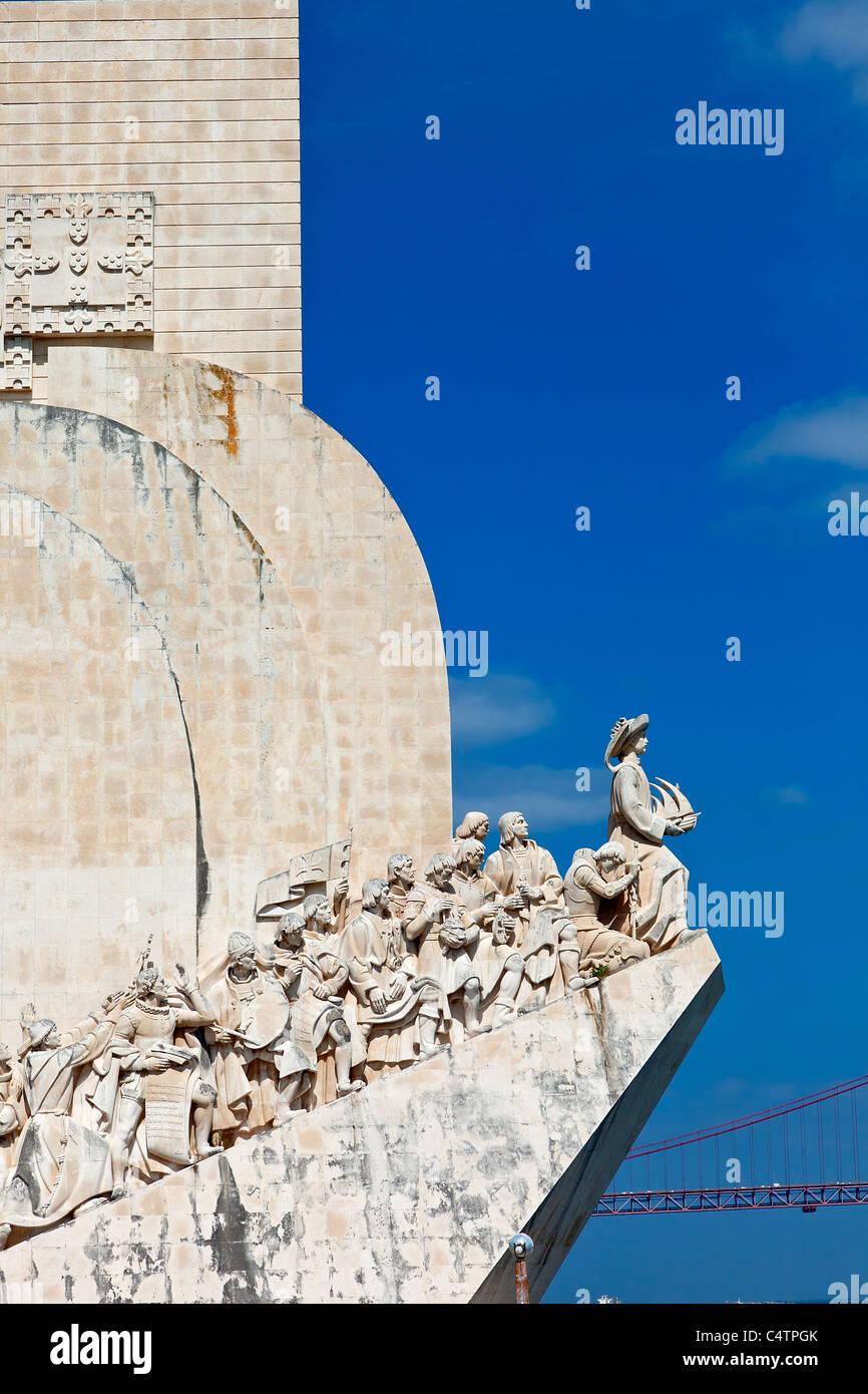 L'Europa, il Portogallo, il Monumento delle Scoperte a Lisbona Immagini Stock