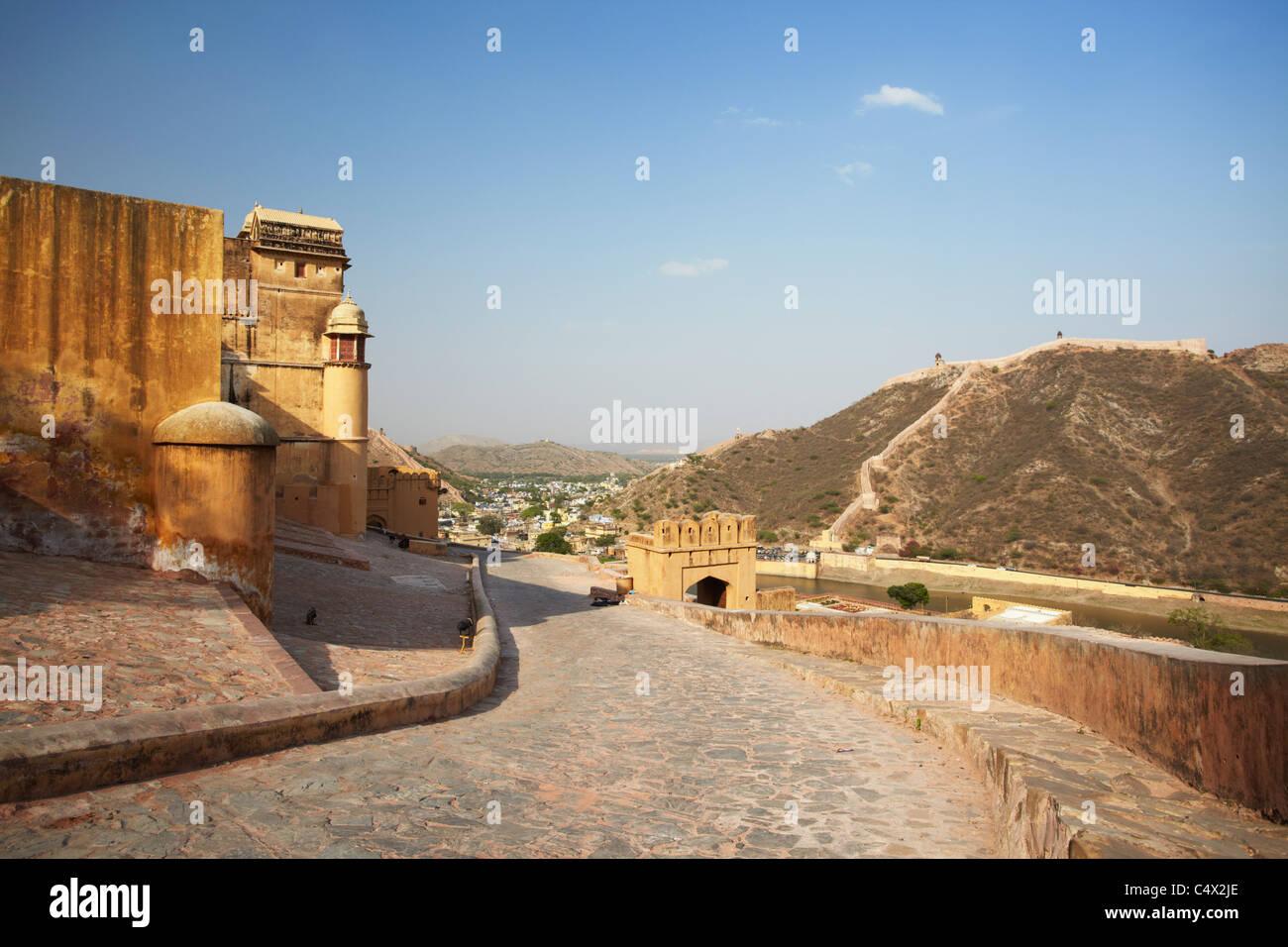 Forte Amber, Jaipur, Rajasthan, India Immagini Stock