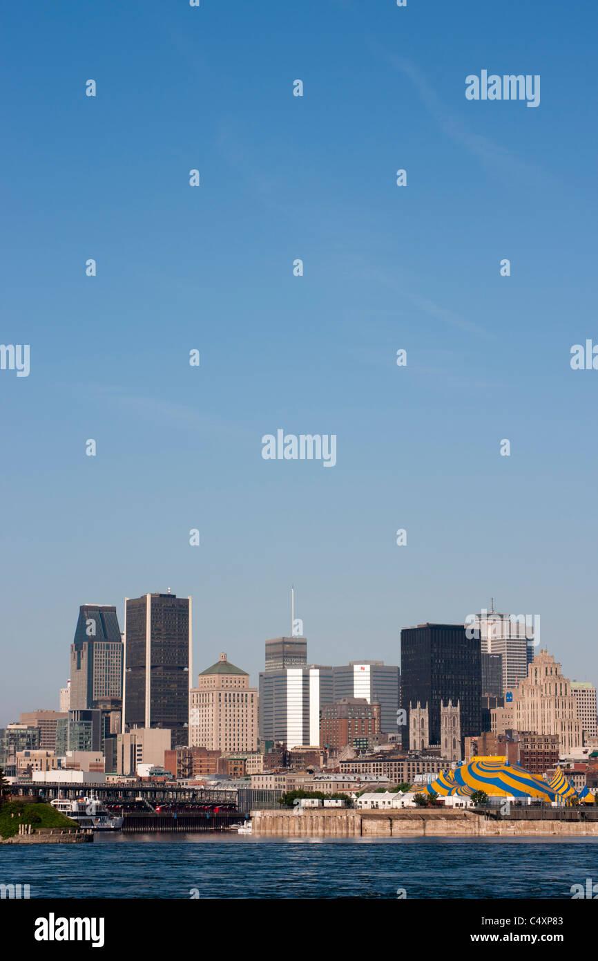Lo skyline di Montreal Immagini Stock