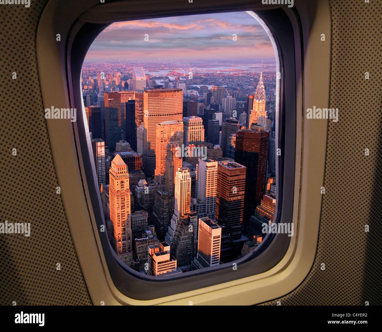 USA - New York - Manhattan visto dall'aria Immagini Stock
