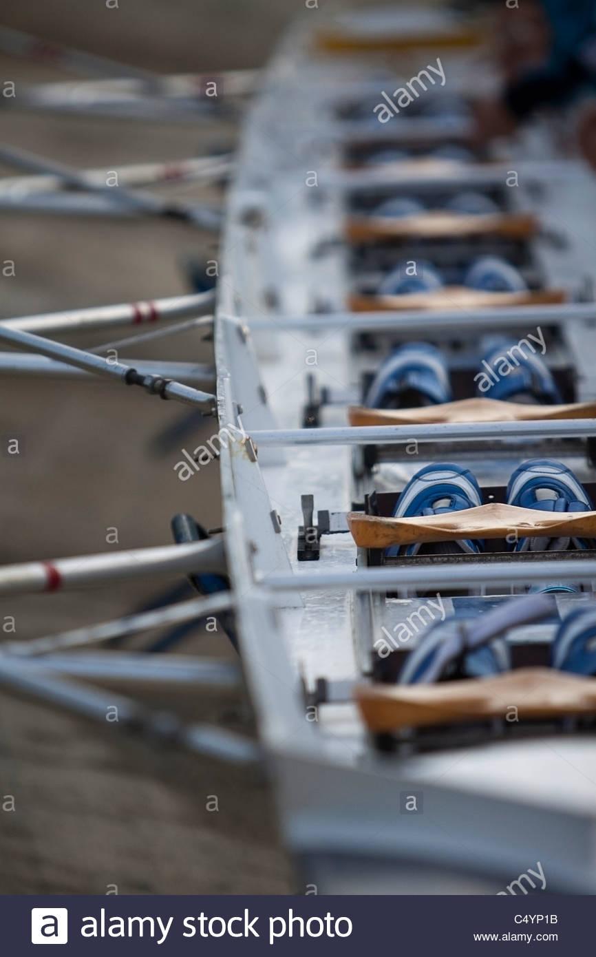 Il canottaggio canoa dettaglio. Immagini Stock