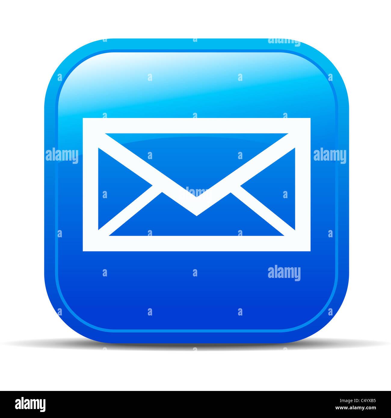 E-mail Internet icona pulsante Immagini Stock