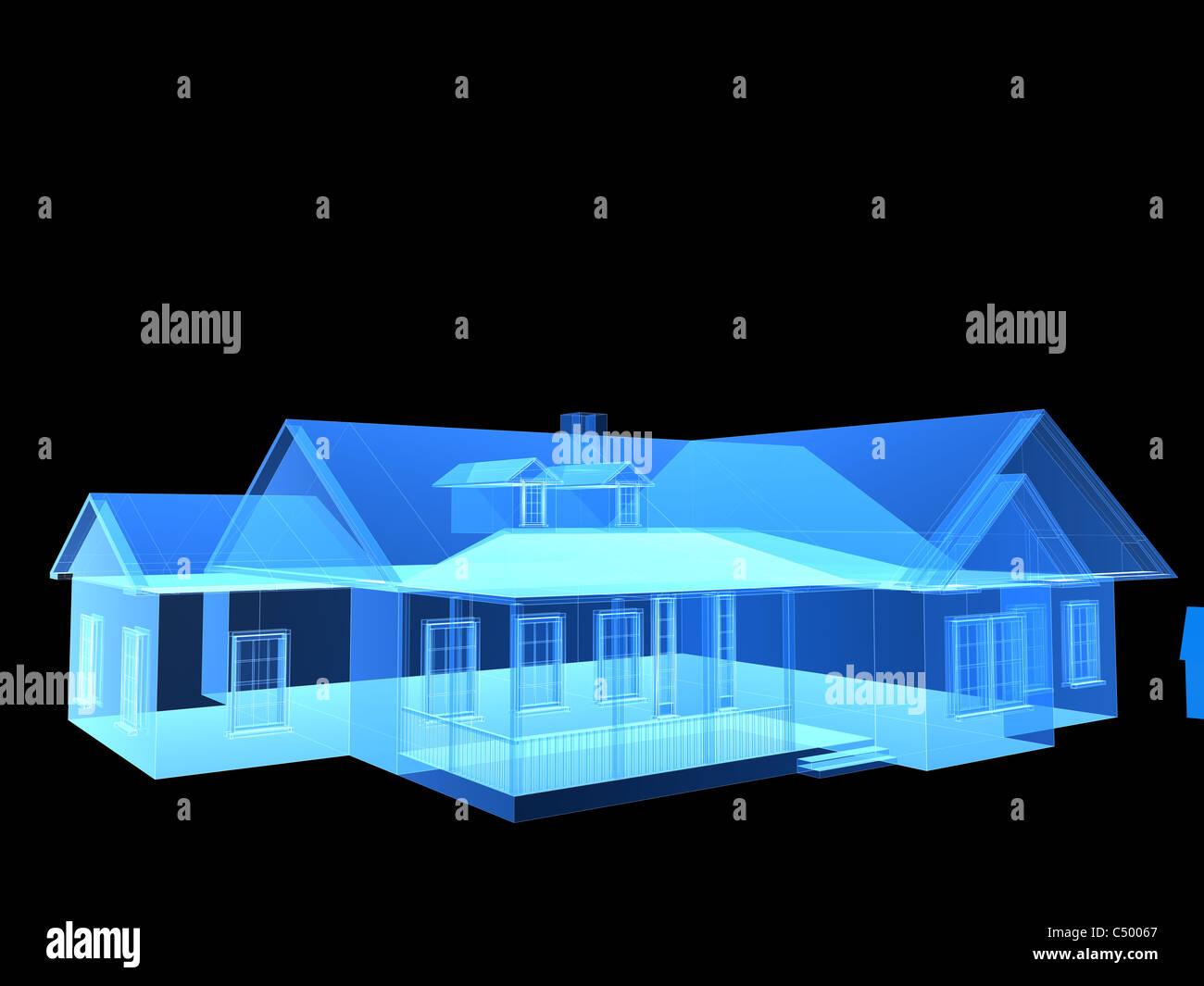 Casa di raggi x Immagini Stock