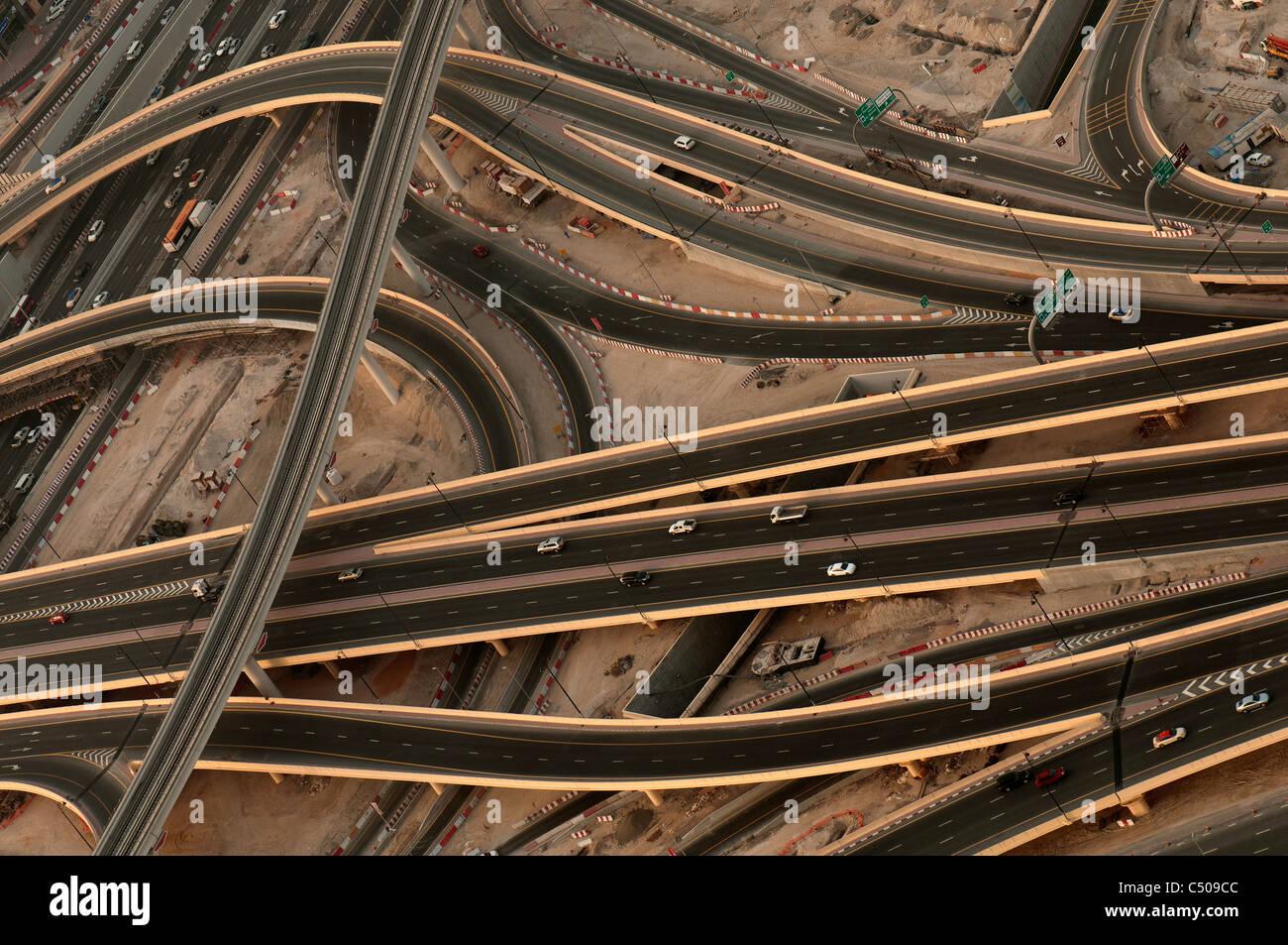 Autostrade a Dubai Immagini Stock