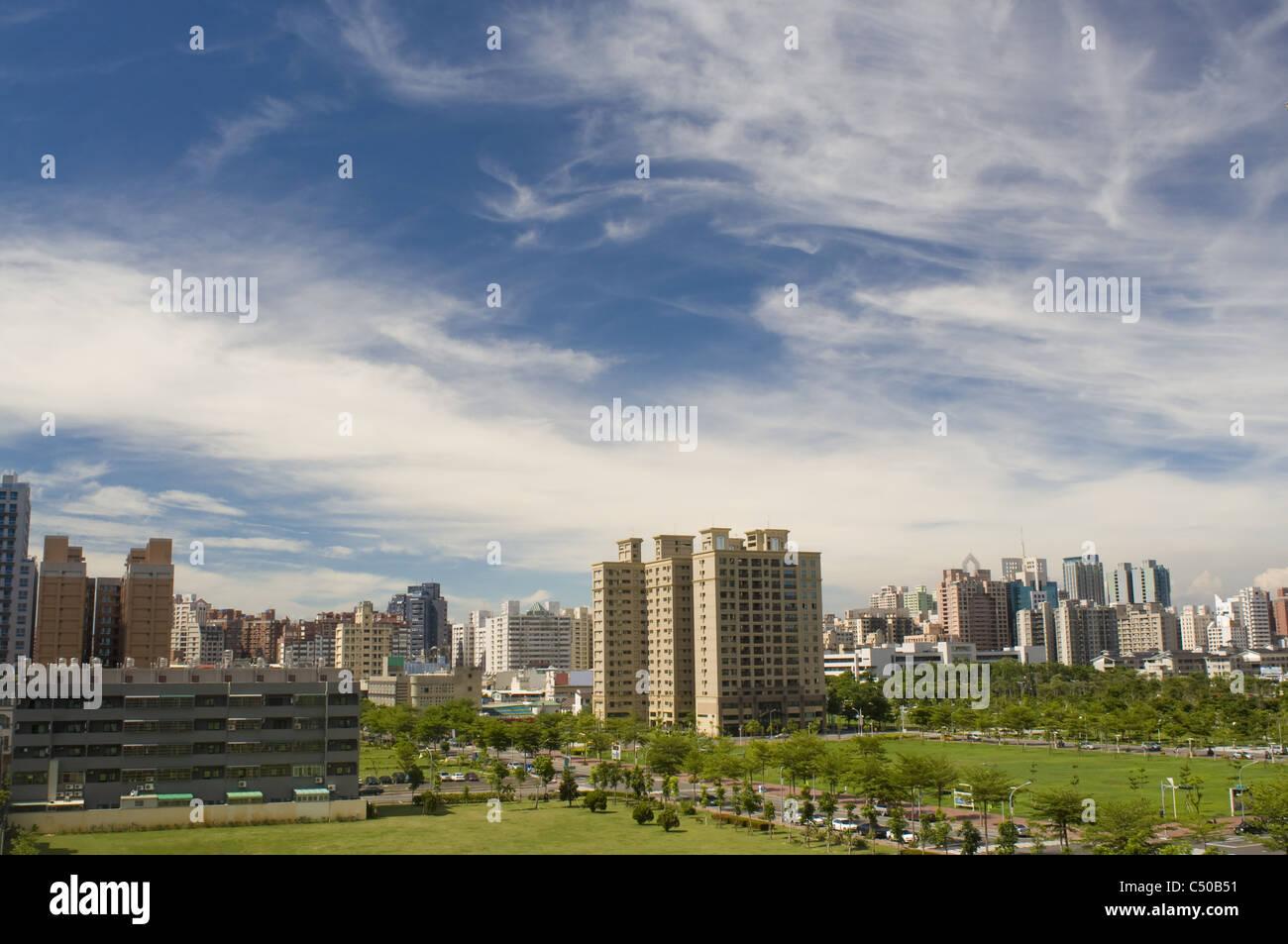 Il paesaggio regionale a città di Kaohsiung taiwan Immagini Stock