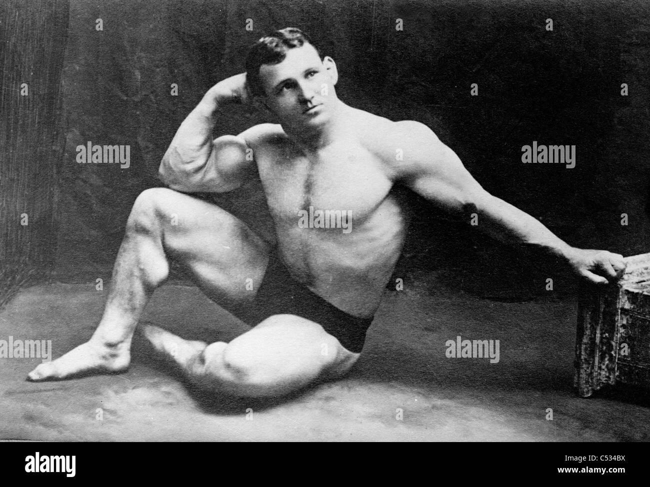 John Lemm, campione lottatore, circa 1910 - 1915 Immagini Stock