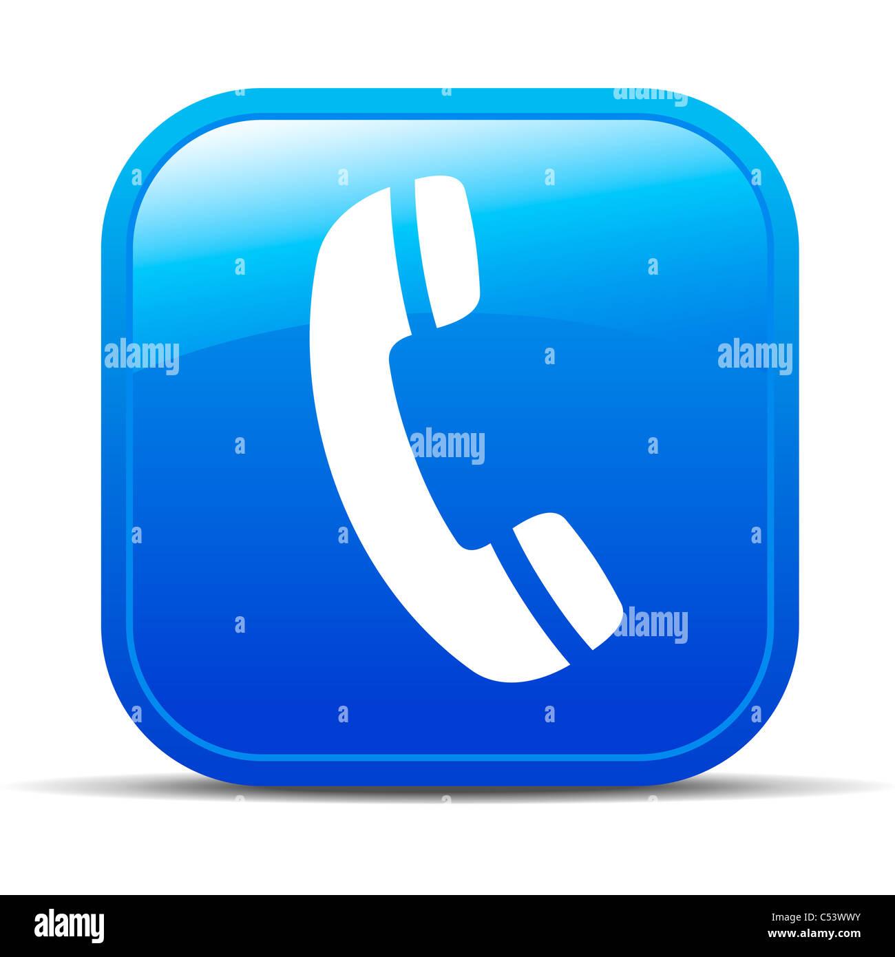 Telefono Internet icona pulsante Immagini Stock