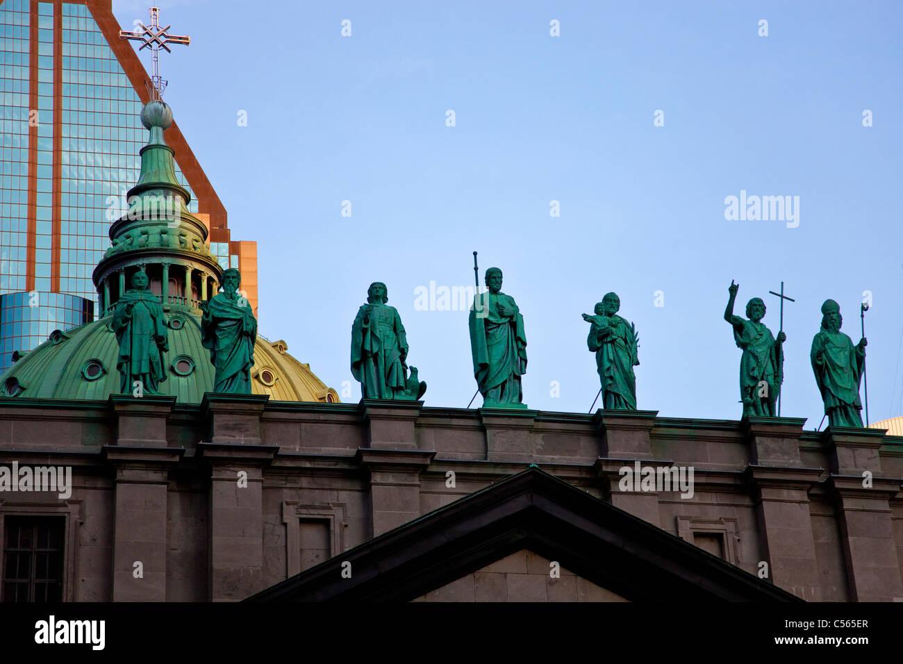 Cattolica romana Cattedrale-basilica di Maria Regina del mondo, Montreal, Quebec, Canada Immagini Stock