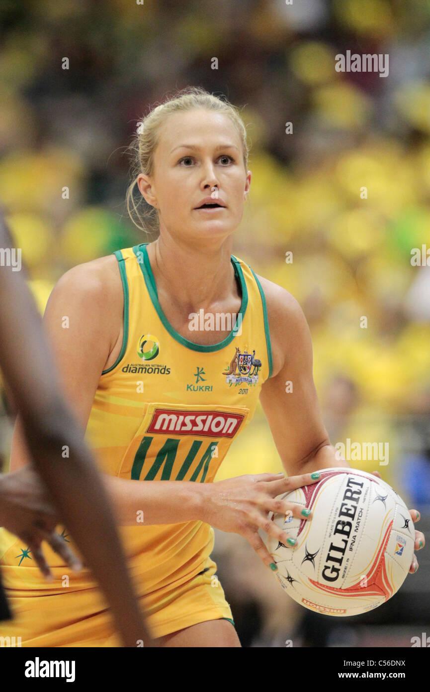09.07.2011 Chelsea Pitman di Australia in azione durante le semifinali tra Australia e Giamaica, Mission Foods World Immagini Stock