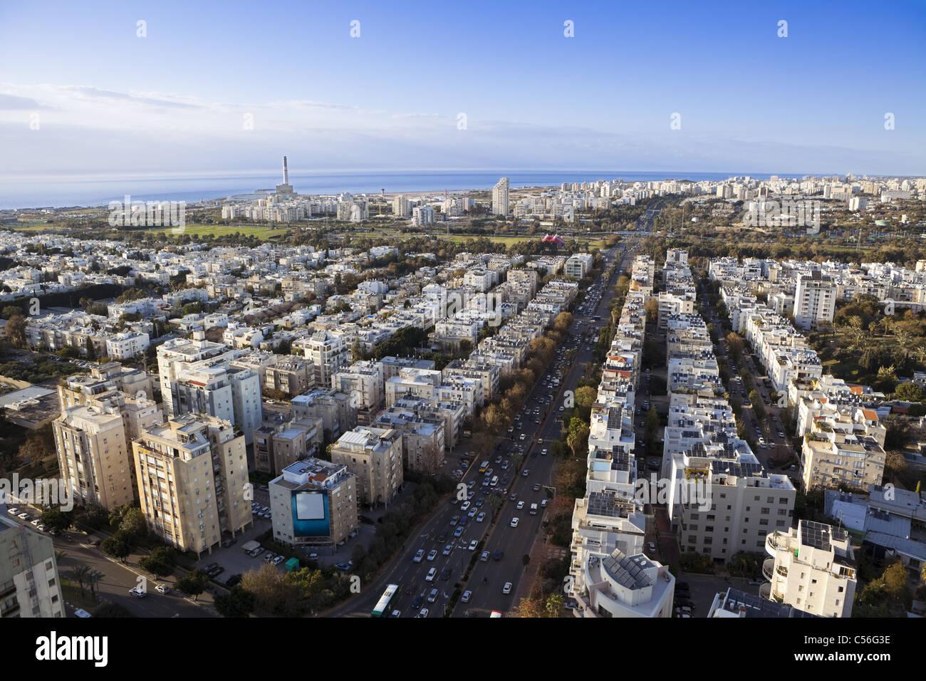 Tel Aviv skyline / vista aerea di Tel Aviv Immagini Stock