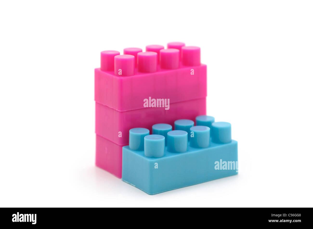 Costruzione di blocchi, plastica Immagini Stock