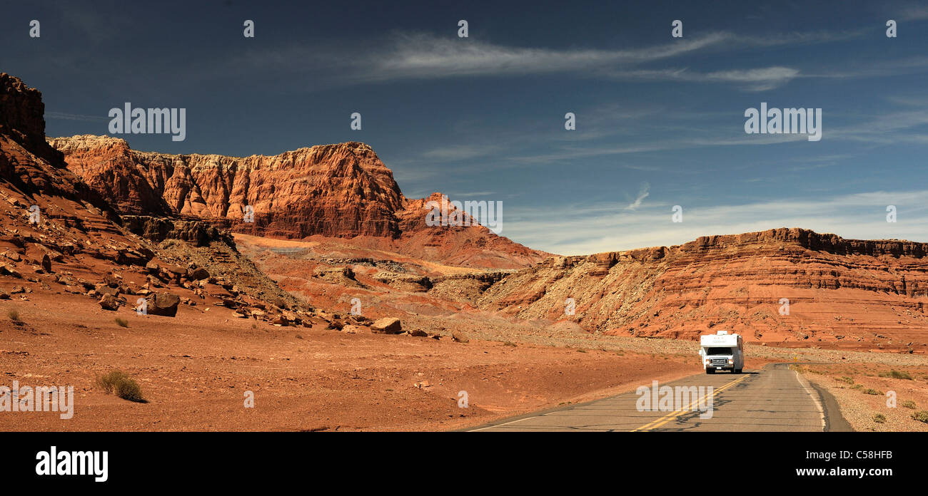 Glen Canyon National Recreation Area, Lees Ferry, Arizona, Stati Uniti d'America, Stati Uniti, America, road, Immagini Stock