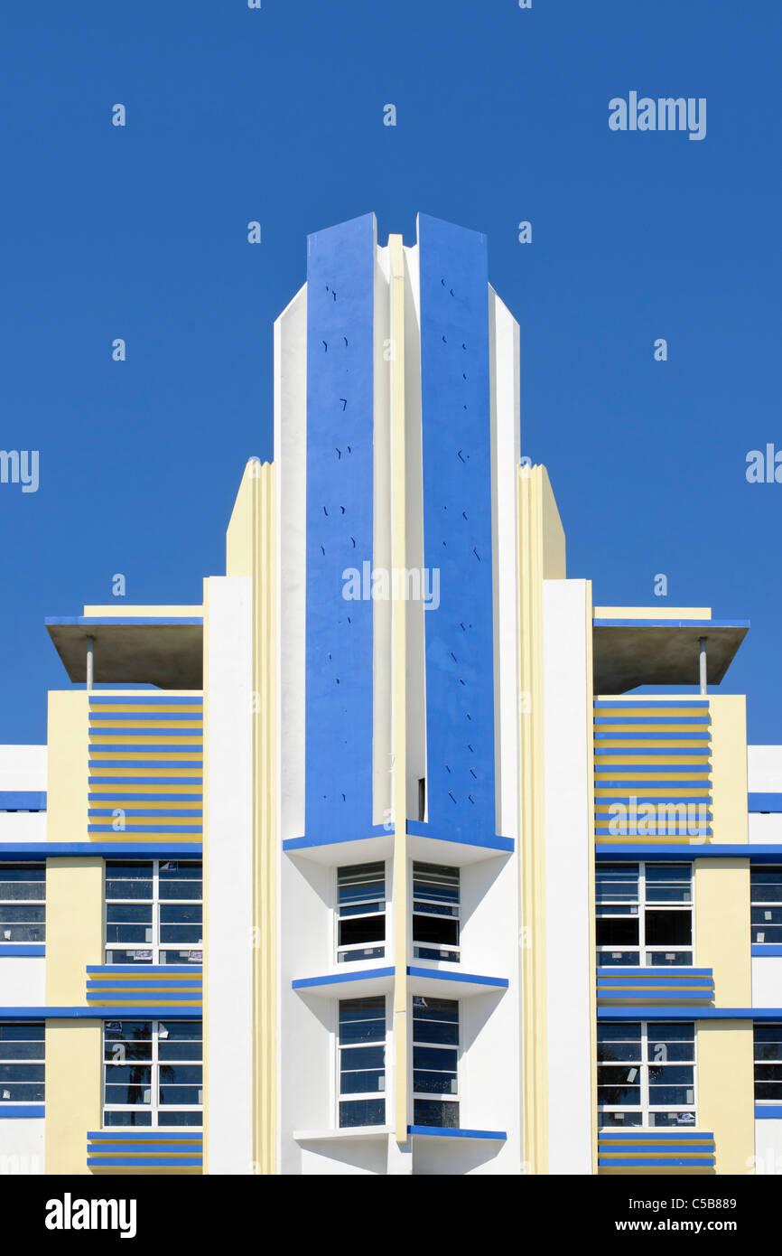Art Deco di South Beach e a Miami Immagini Stock
