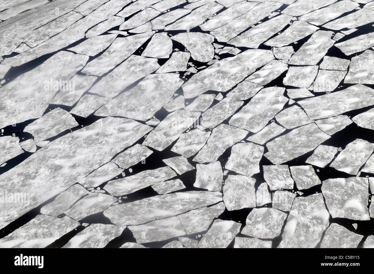 Mare di ghiaccio rottura a Baia Terra Nova Antartide Immagini Stock