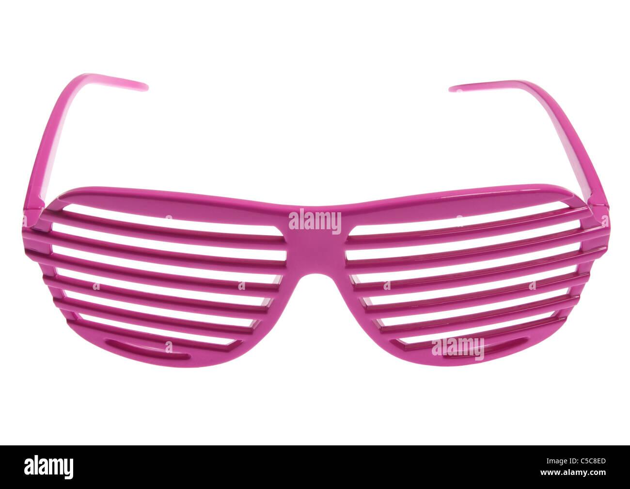 Griglia rosa bicchieri su sfondo bianco Immagini Stock