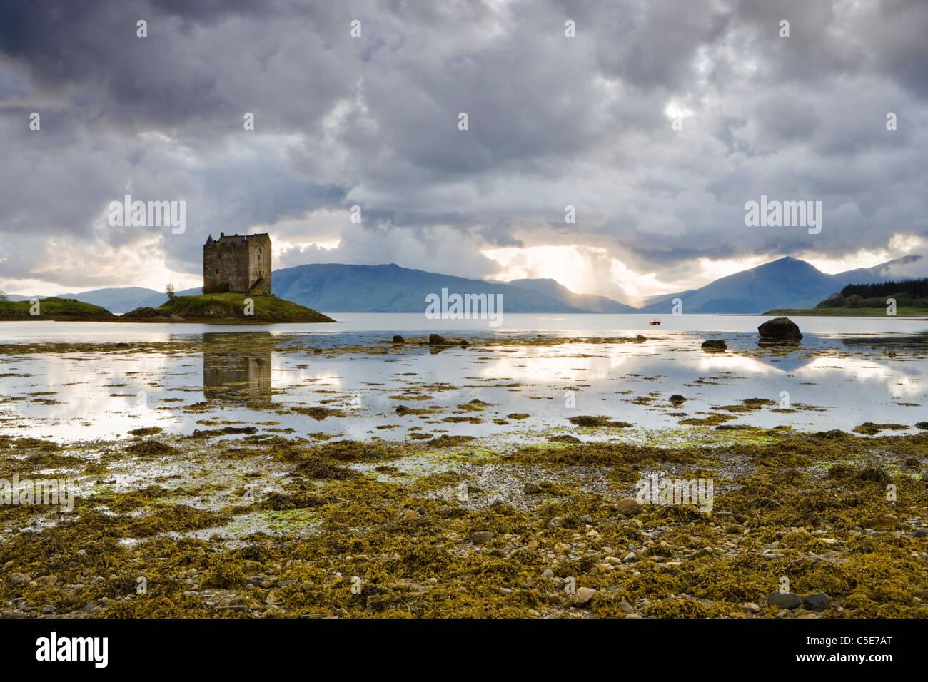 Castle Stalker, Argyll, Scotland, Regno Unito Immagini Stock
