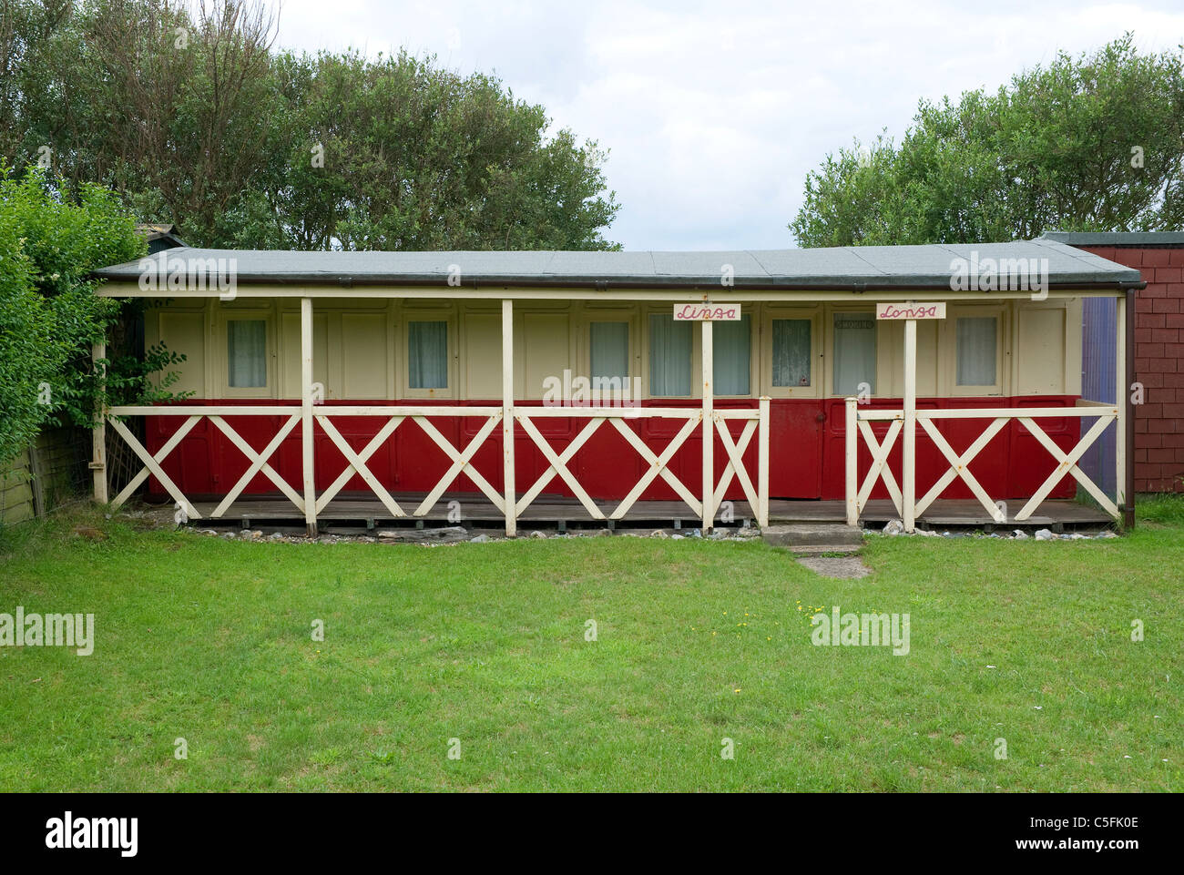 Casa Vacanze, sea palling, Norfolk, Inghilterra Immagini Stock