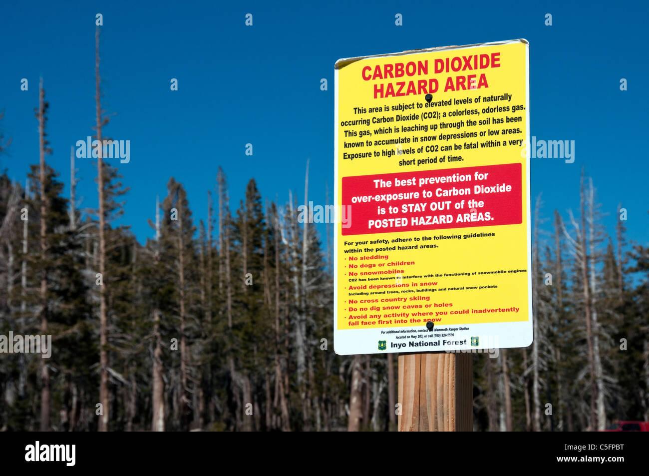 Il biossido di carbonio segno di pericolo Immagini Stock