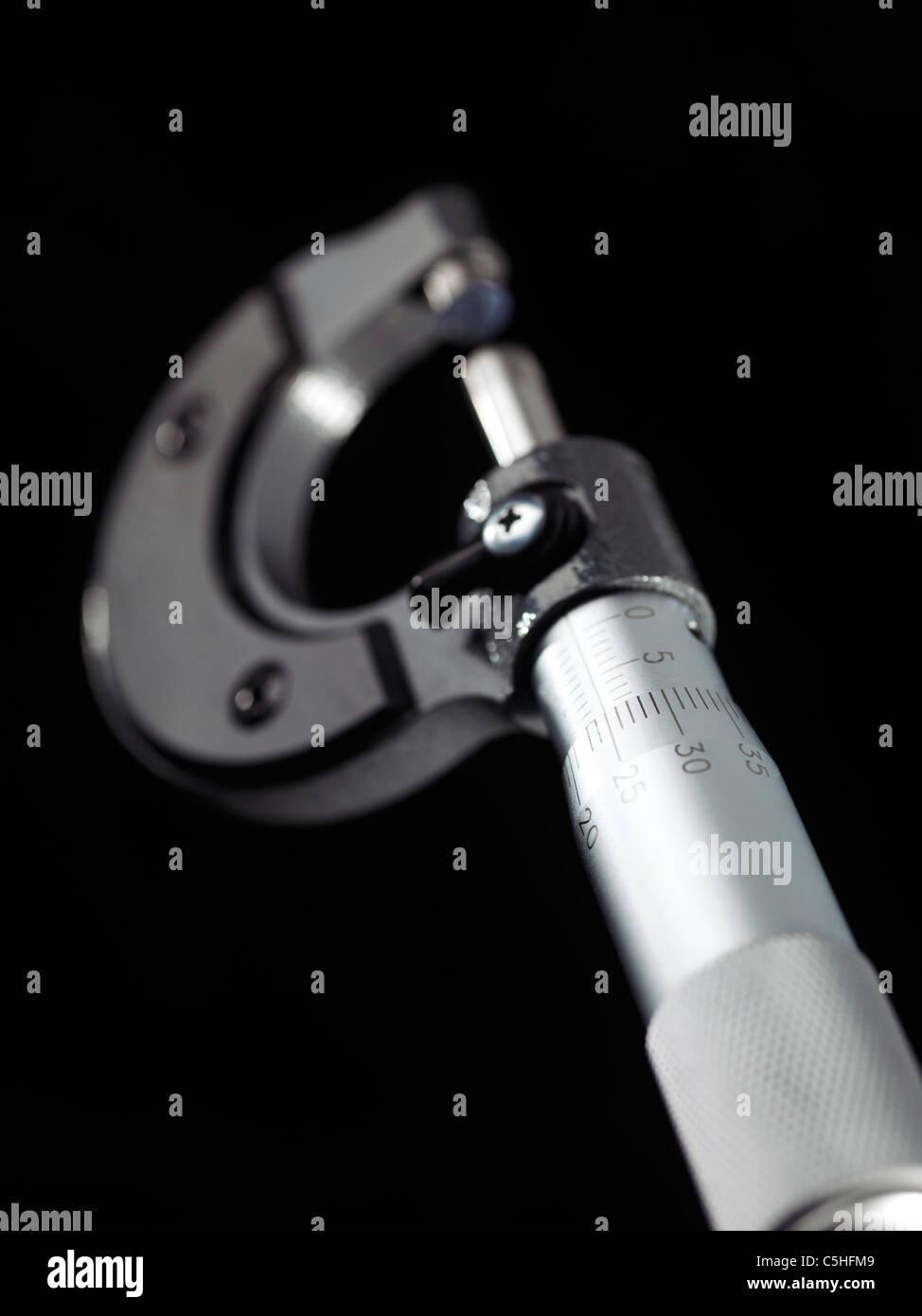 Micrometro esterno Immagini Stock