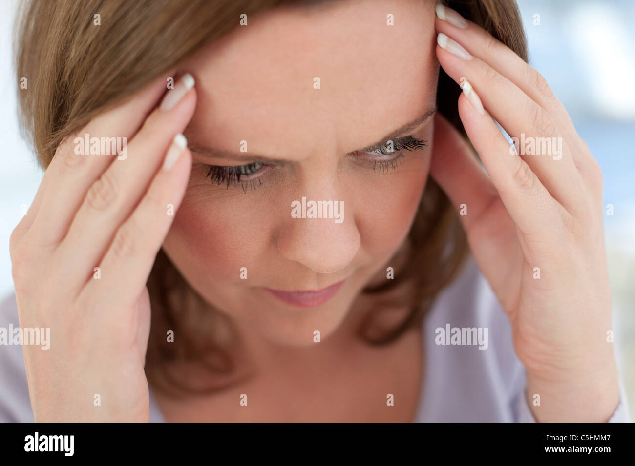Mal di testa Immagini Stock