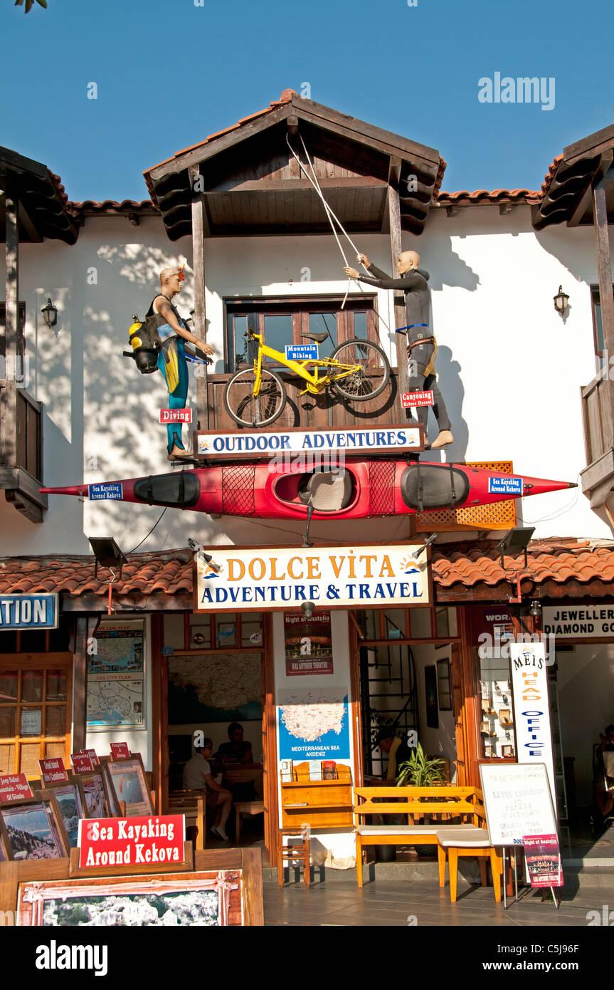 Kas Turchia turco porto porto peschereccio barca viaggi avventura canoa Immagini Stock