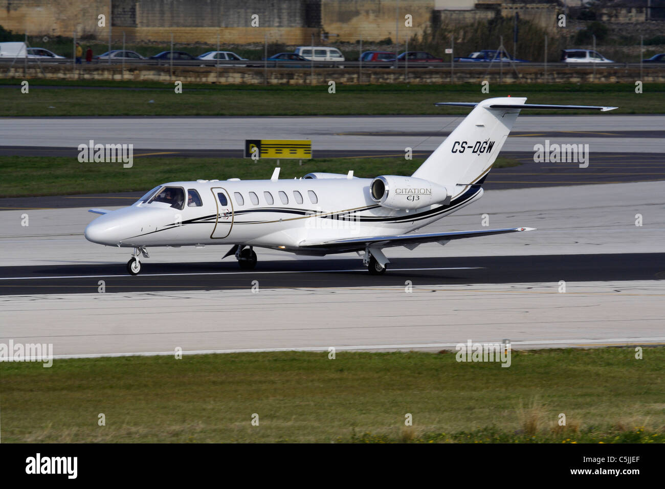 Cessna Citation CJ3 business jet Immagini Stock