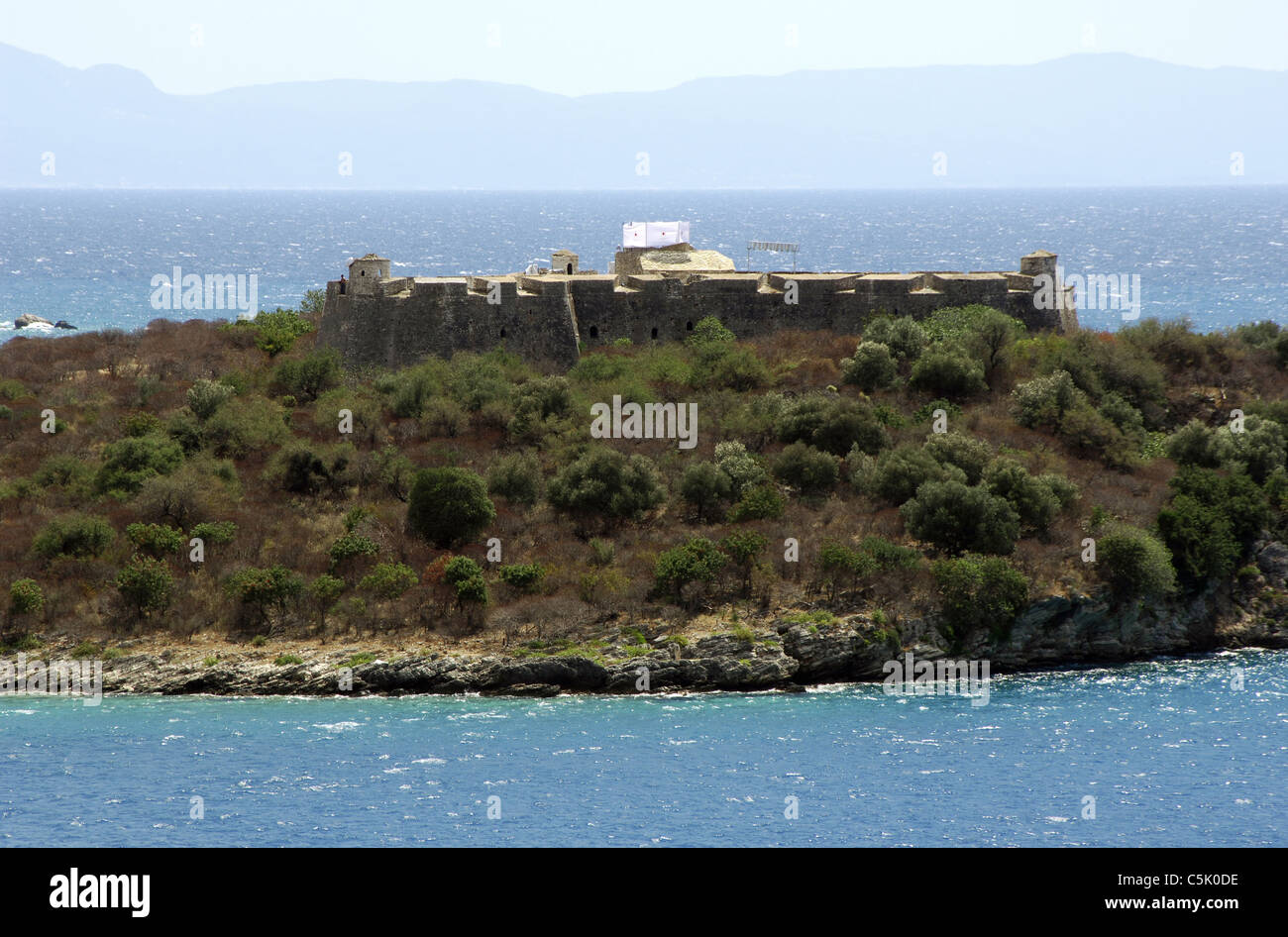 L'Albania. Saranda. Ali Pasha Castello. Immagini Stock