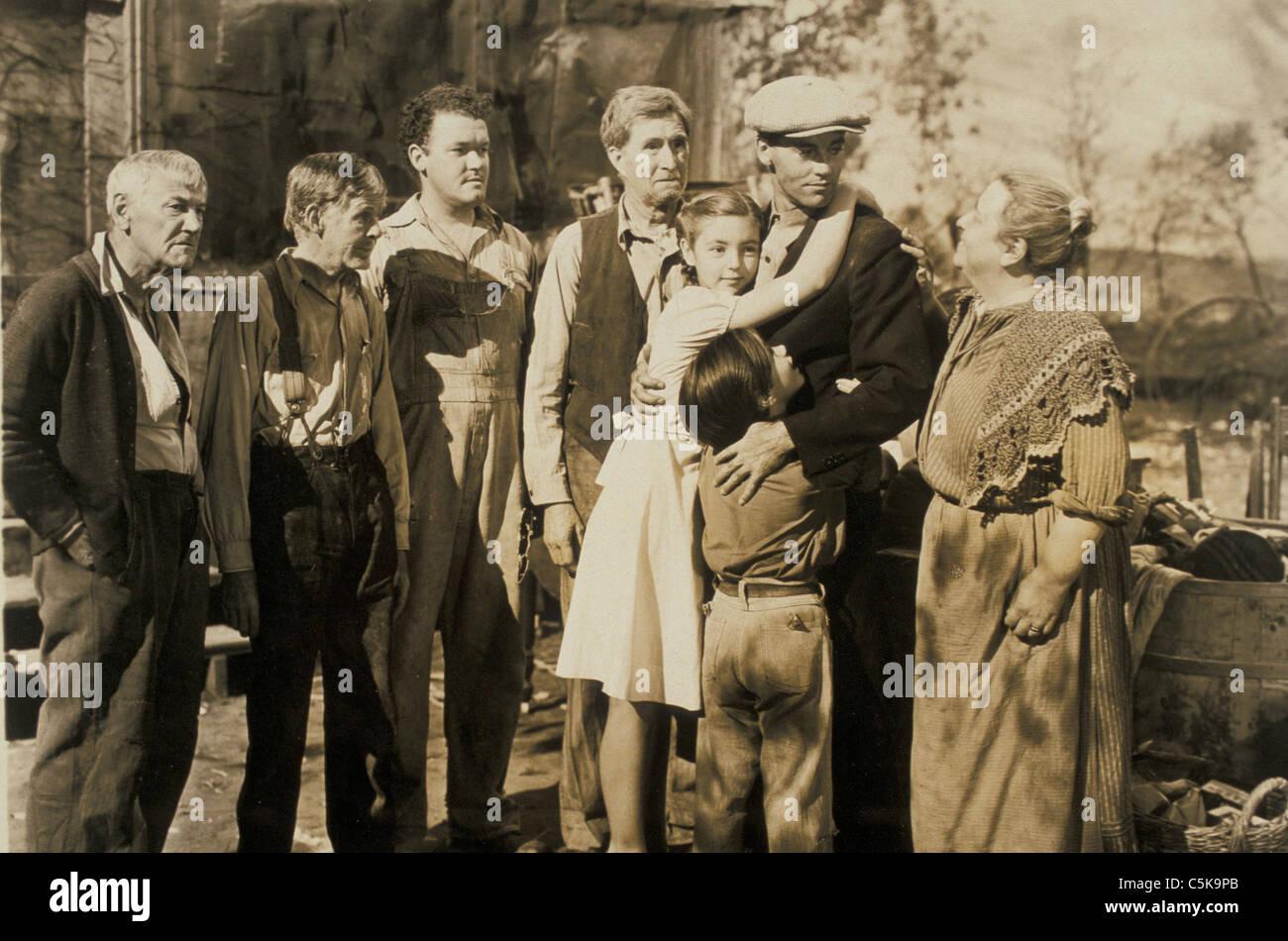 Le uve di ira Anno: 1940 USA Direttore: John Ford Charley Grapewin, Frank Darien, Russell Simpson, Shirley Mills, Immagini Stock