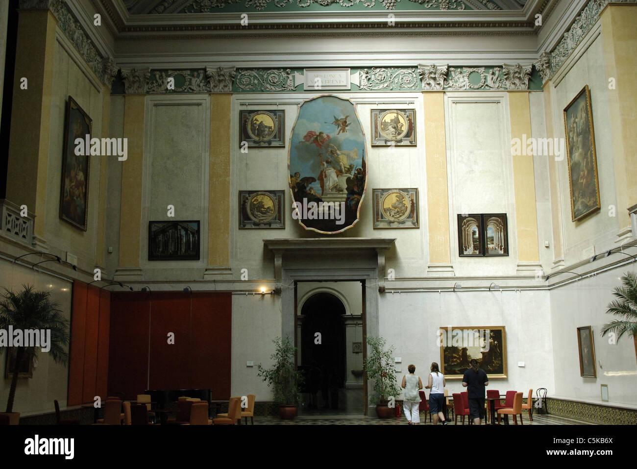 Museo di Belle Arti. Interno. Budapest. Ungheria. Immagini Stock