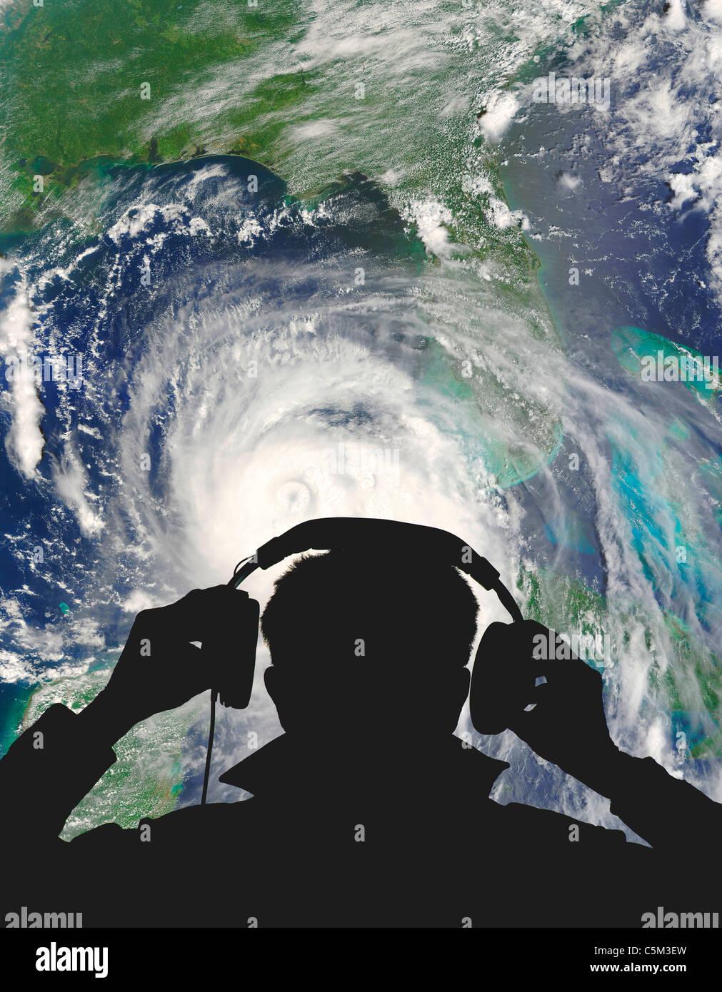 Uragano Katrina ingegnere meteo Foto Stock