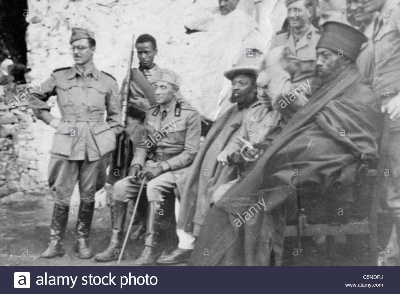 Invasione italiana in Abissinia, africa, 1935 Immagini Stock