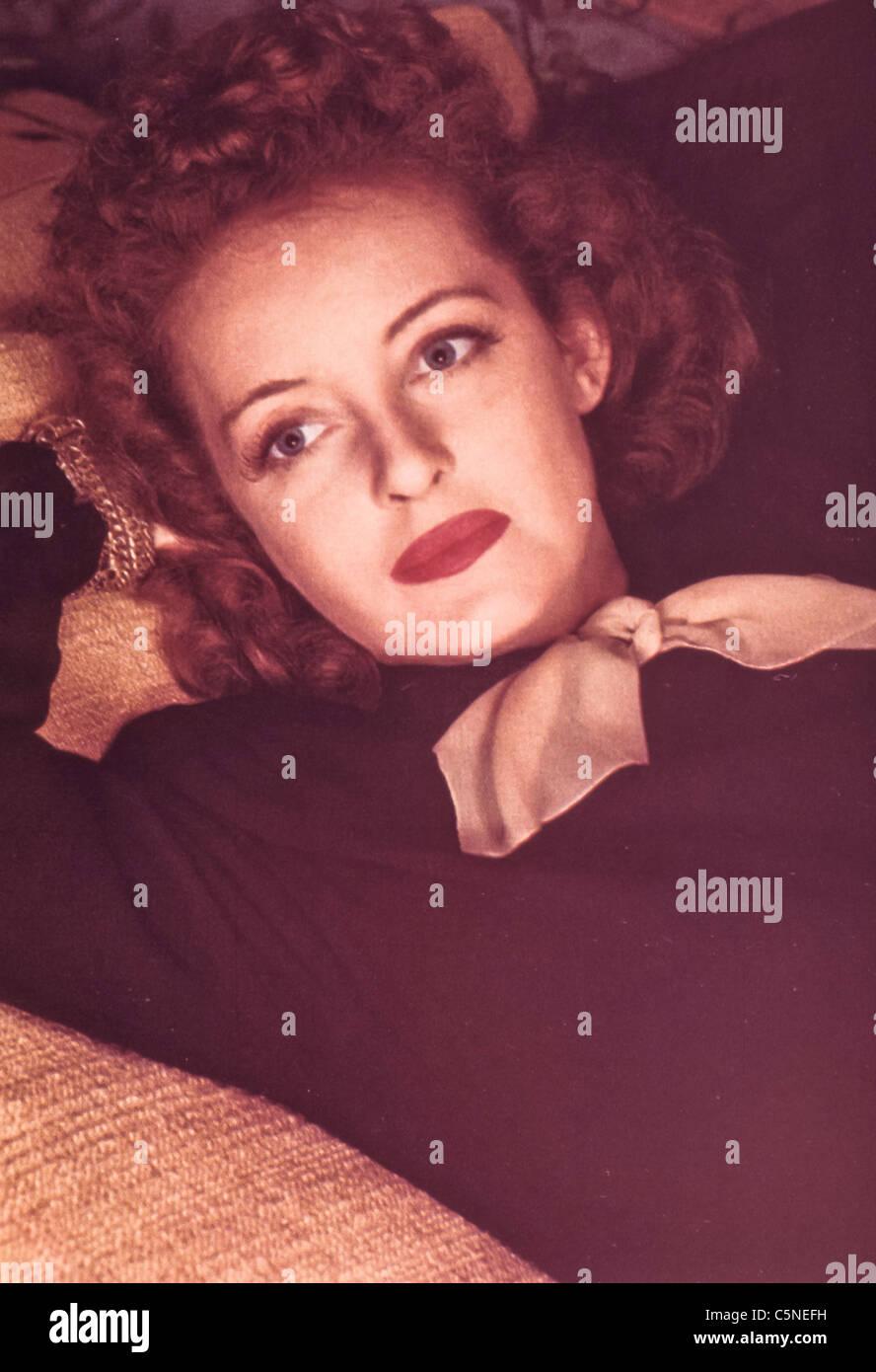 Bette Davis, 1940 Immagini Stock