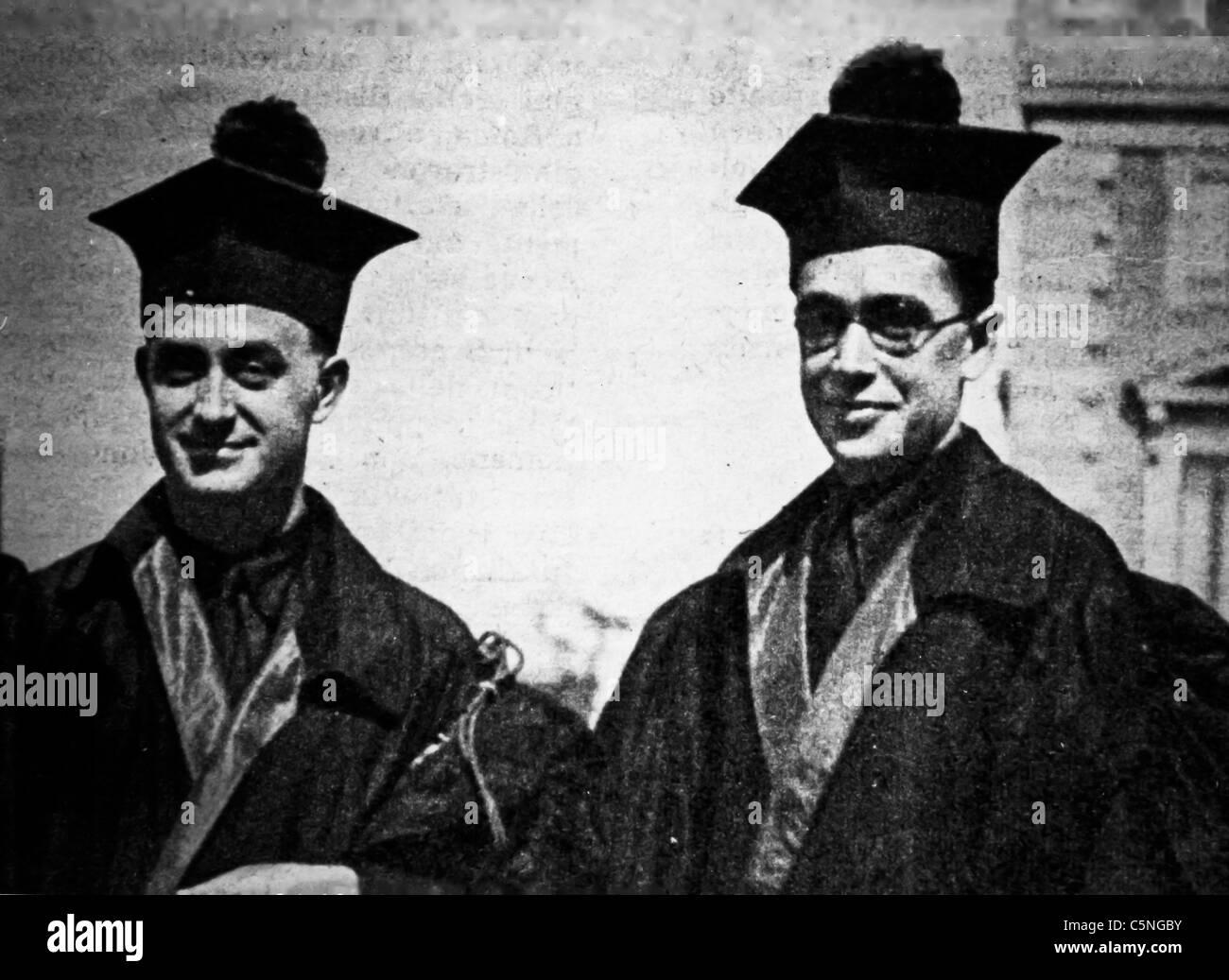 Enrico Fermi, Emilio Segrè, 1930 Immagini Stock