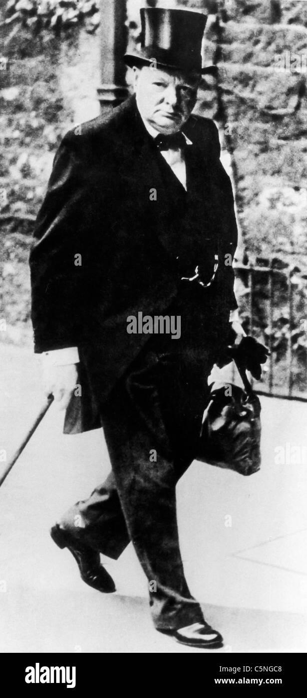 Winston Churchill, 1940 Immagini Stock