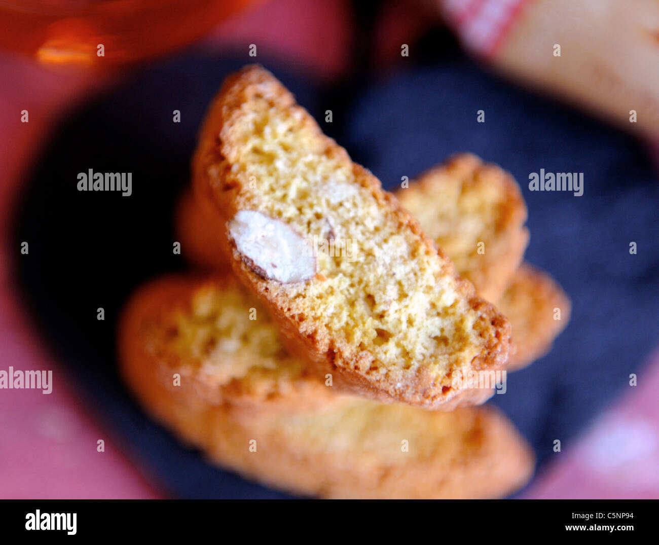 Italiana mandorla cookies (Cantuccini) Immagini Stock