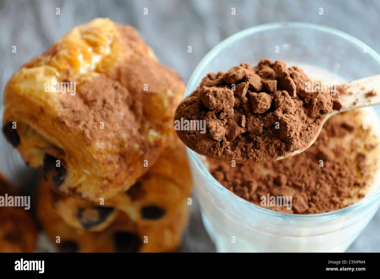 Pain au chocolat Immagini Stock