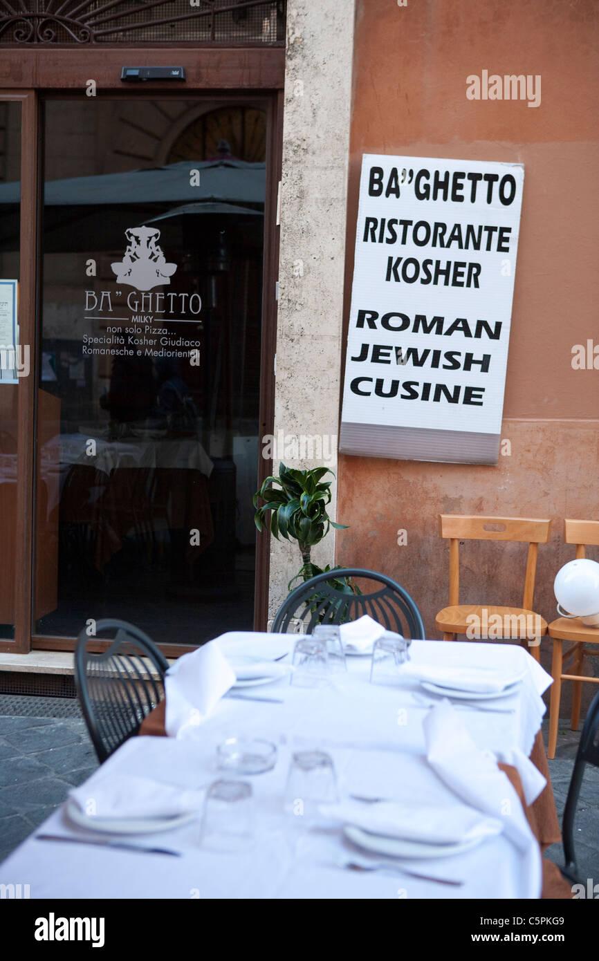 Ristorante Kosher Della Porta D Ingresso Nel Ghetto Di Roma Italia