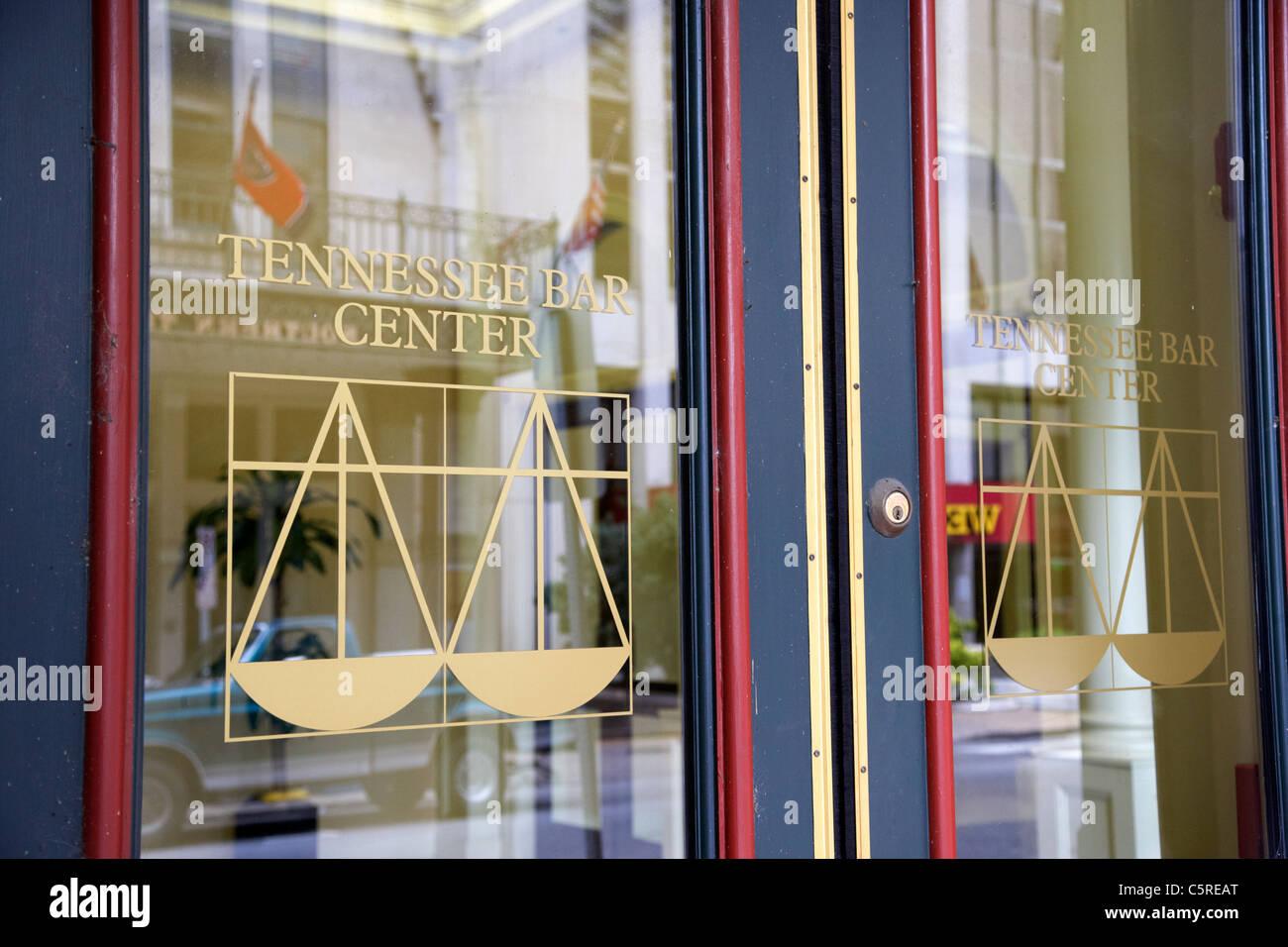 Tennessee bar centro porte logo Nashville Tennessee USA Immagini Stock