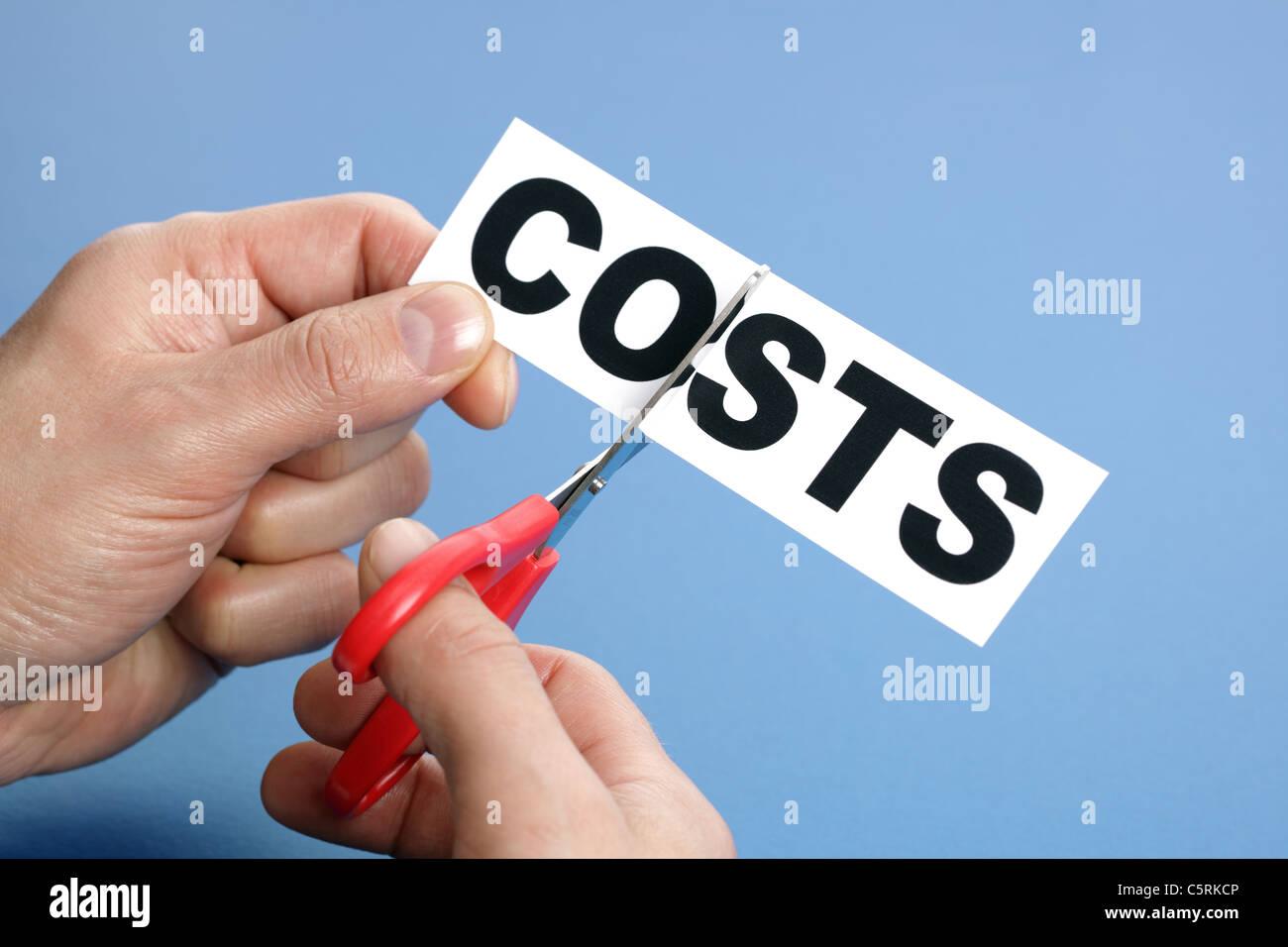 Taglio dei costi Immagini Stock
