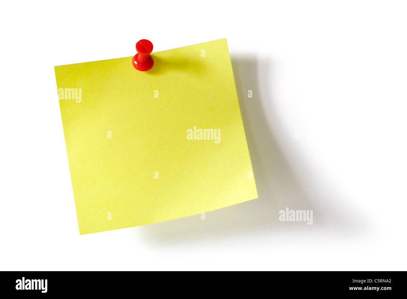 Bigliettino giallo Foto Stock