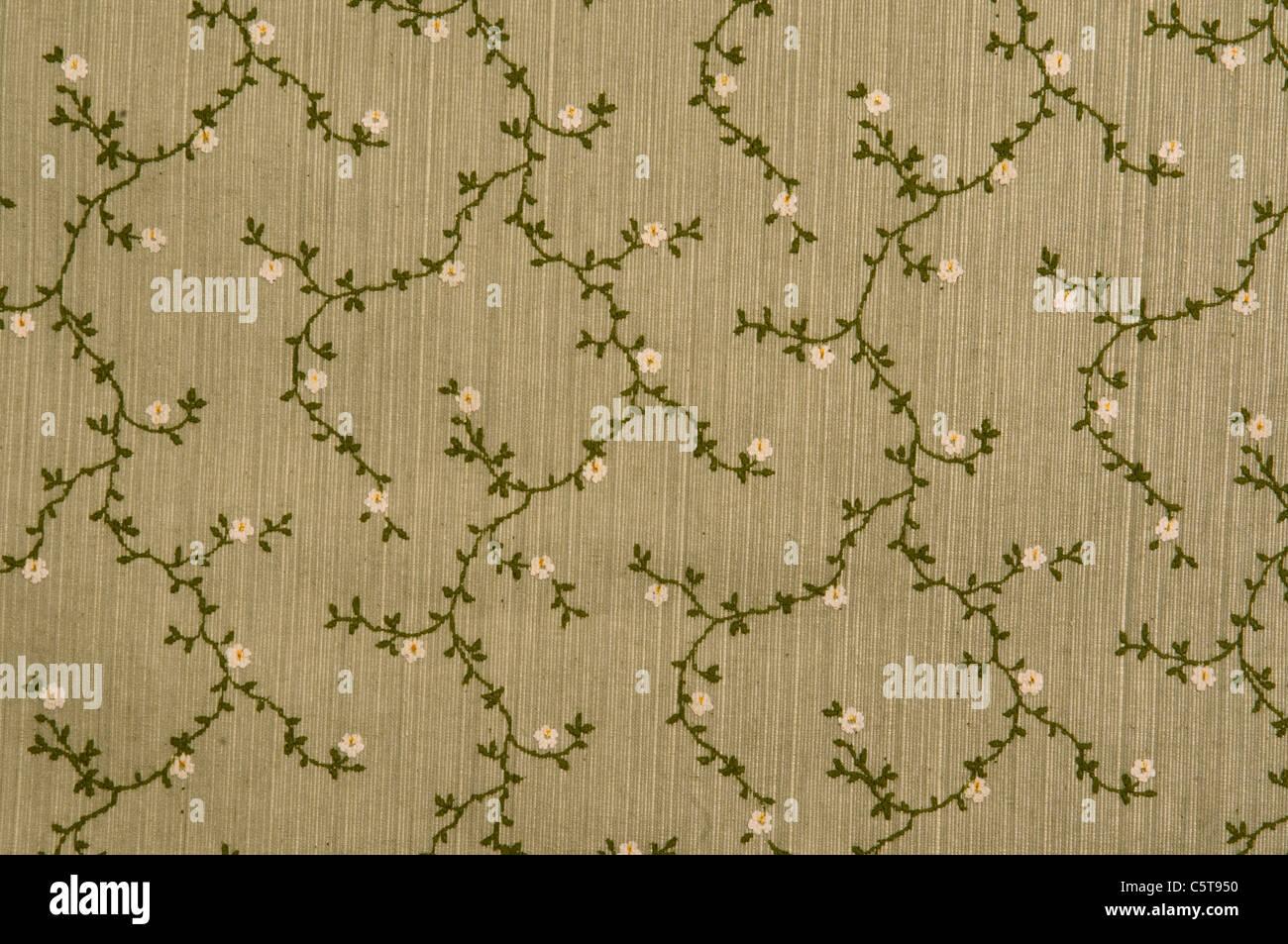 Tessuto floreale sfondo, frame completo Immagini Stock