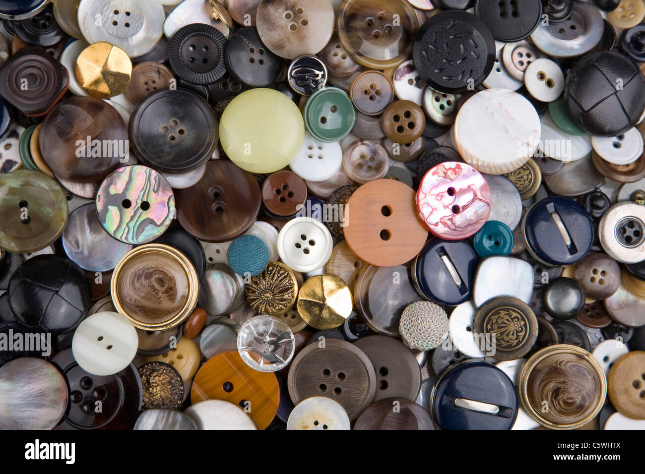 Varietà di pulsanti, frame completo Immagini Stock