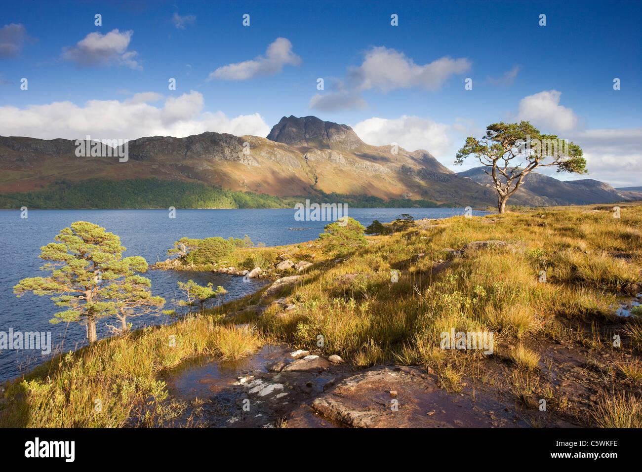 Loch Maree e Slioch, Scozia, Gran Bretagna. Immagini Stock