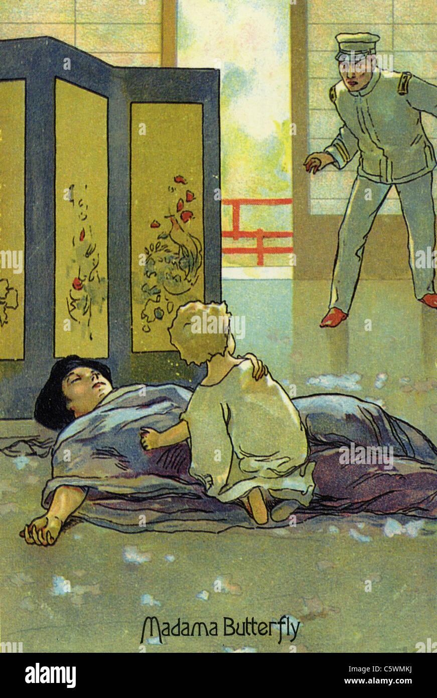 MADAME BUTTERFLY Poster per la sua opera Puccini Immagini Stock