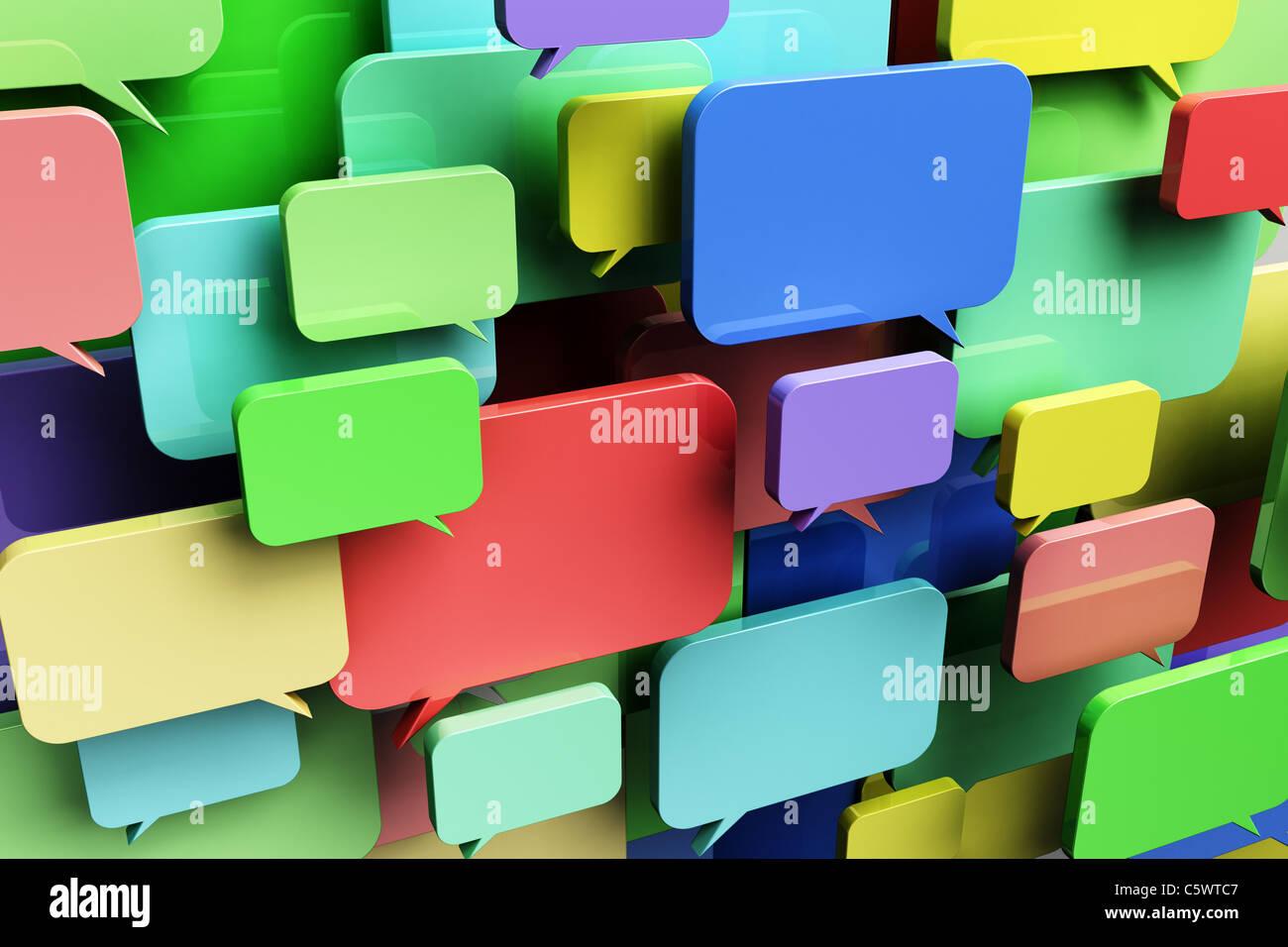 Social networking concept Immagini Stock