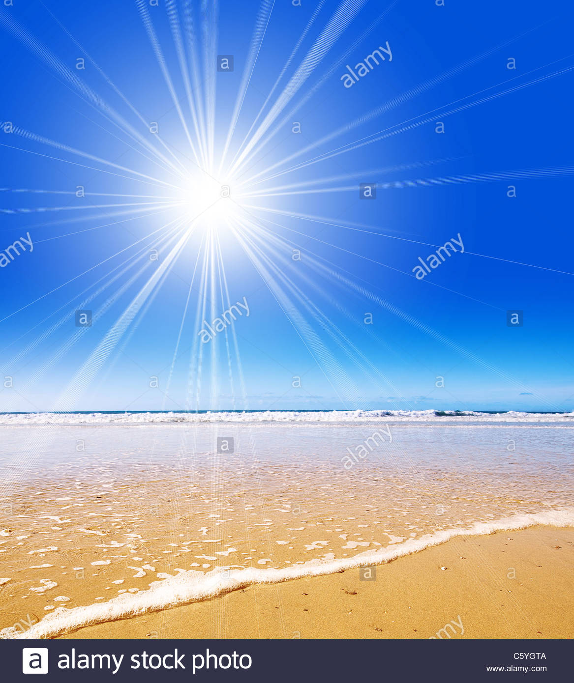 sole spiaggia Immagini Stock